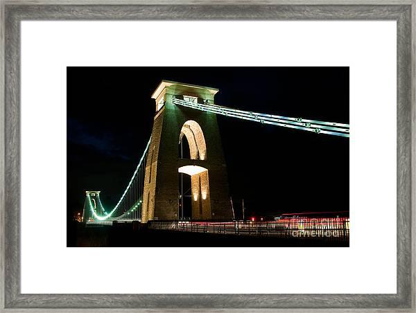 Clifton Suspension Bridge, Bristol. Framed Print