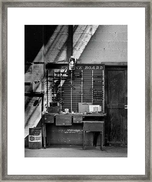 Clocked Out Framed Print