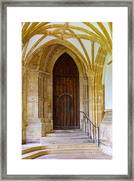 Cloisters, Wells Cathedral Framed Print