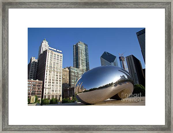 Cloudgate Reflects Framed Print