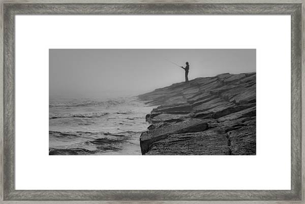 Coastal Solitude Framed Print by James Woody