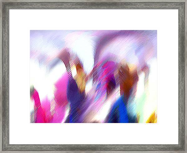 Color Dance Framed Print