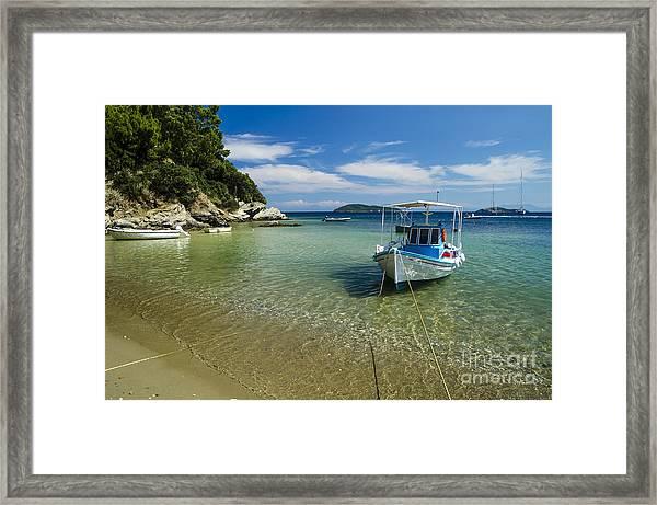 Colorful Boat Framed Print