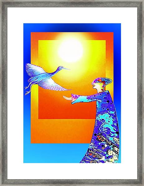 Colorful Friends Framed Print