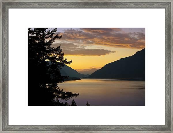 Columbia River Sunset Framed Print