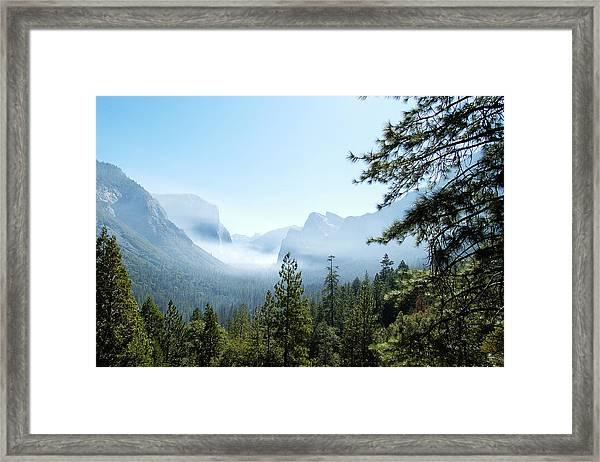 Controlled Burn Of Yosemite Framed Print