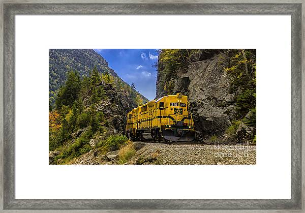 Conway Scenic Railroad Notch Train. Framed Print