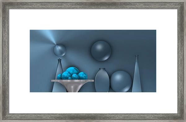 Cool Still Life Framed Print