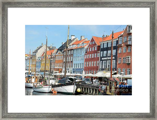 Copenhagen Harbor II Framed Print by Andrea Simon