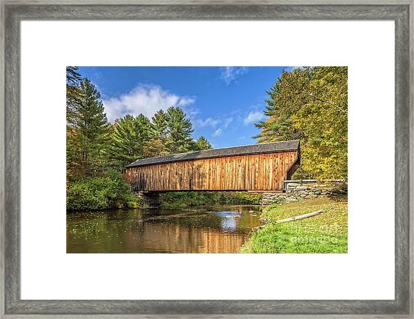 Corbin Covered Bridge Newport New Hampshire Framed Print