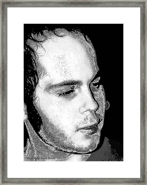 Framed Print featuring the digital art Corby Yates by Visual Artist Frank Bonilla