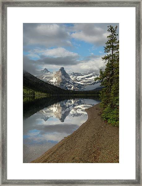 Cosley Lake // Glacier National Park  Framed Print