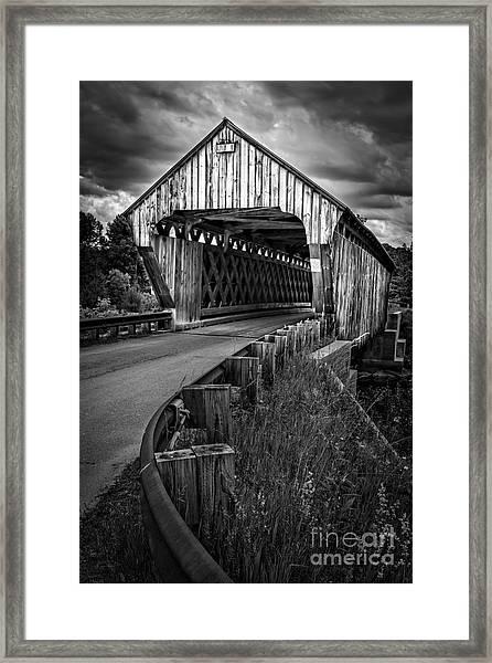 Covered Bridge Willard West Twin Hartland Vermont Framed Print