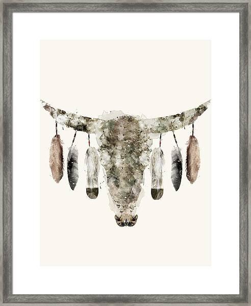 Cow Skull Framed Print