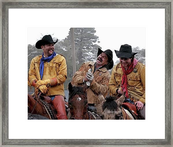 Cowboy Humor Framed Print