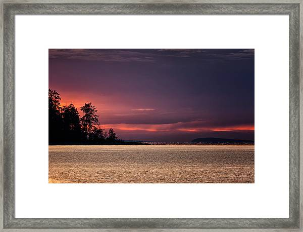 Framed Print featuring the photograph Craig Bay Sunset by Randy Hall