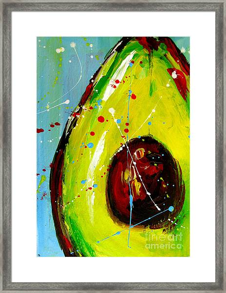 Crazy Avocado Framed Print