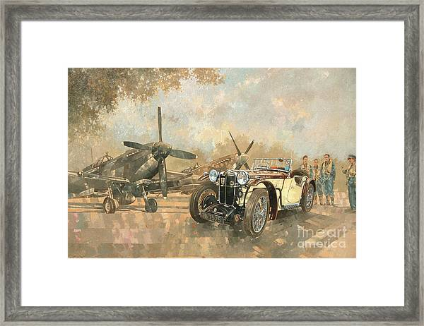 Cream Cracker Mg 4 Spitfires  Framed Print