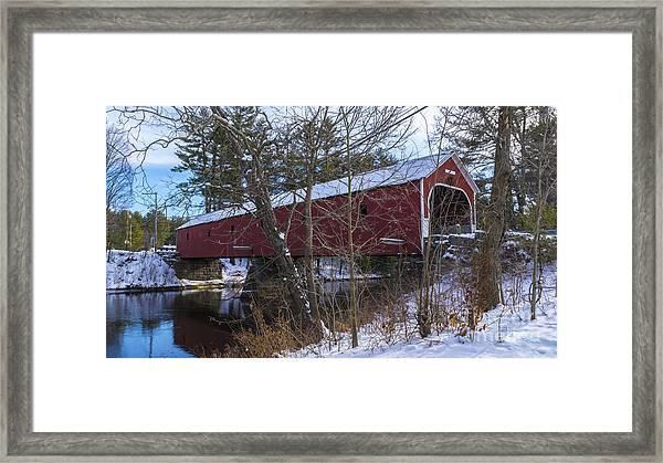 Cresson Covered Bridge. Framed Print