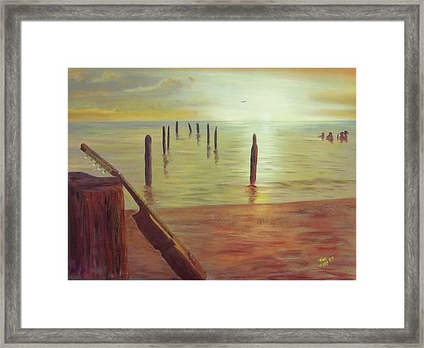 Cuatro Sunset Framed Print