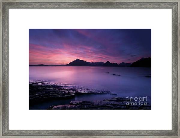 Cuillins At Sunset Framed Print