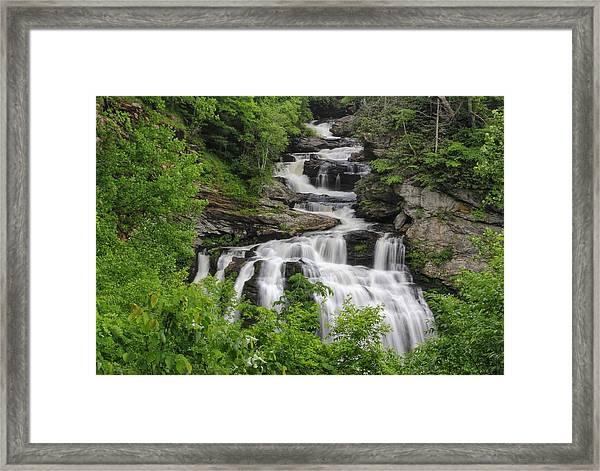 Cullasaja Falls Framed Print