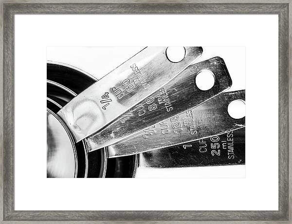 1 Cup Measure And Siblings. Framed Print