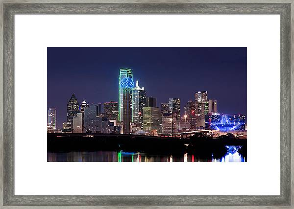 Dallas Skyline Cowboys Framed Print