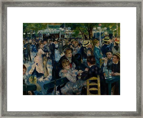 Dance At Le Moulin De La Galette  Framed Print