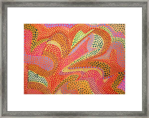 Dazzling Dots Framed Print