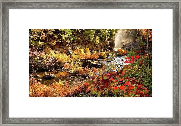 Dead River Falls  Marquette Michigan Framed Print
