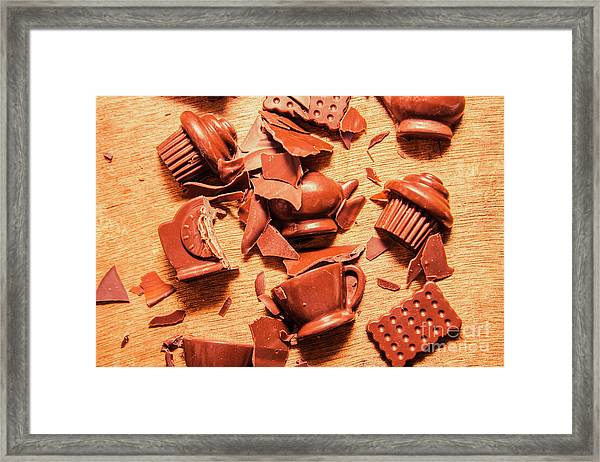 Death By Chocolate Framed Print
