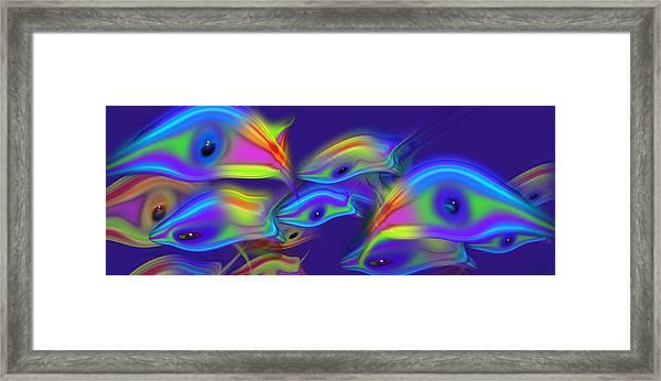 Deep Blue Marine Life Framed Print