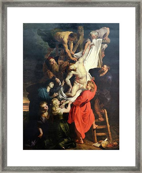 Descent From The Cross Framed Print