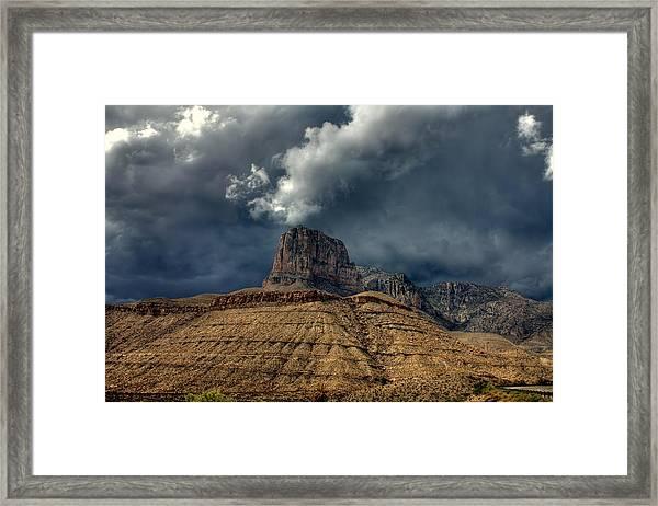 Desert Storm Clouds Framed Print by Farol Tomson
