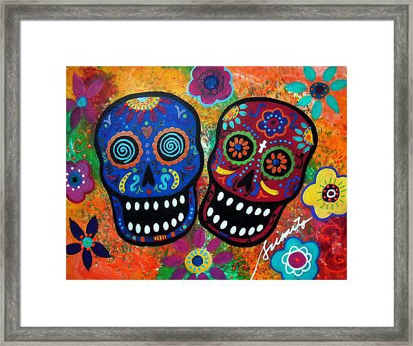 Dia De Los Muertos Couple Framed Print