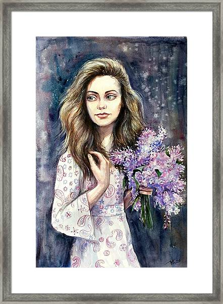 Framed Print featuring the painting Diana by Katerina Kovatcheva