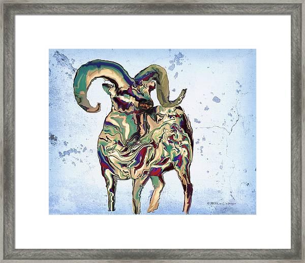 Digital Bighorn Ram Framed Print