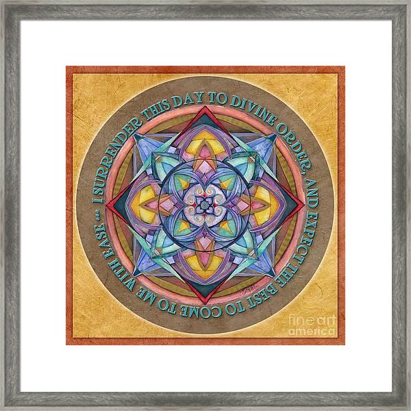 Divine Order Mandala Prayer Framed Print