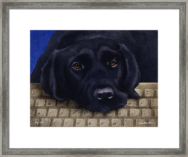 Dog Byte... Framed Print