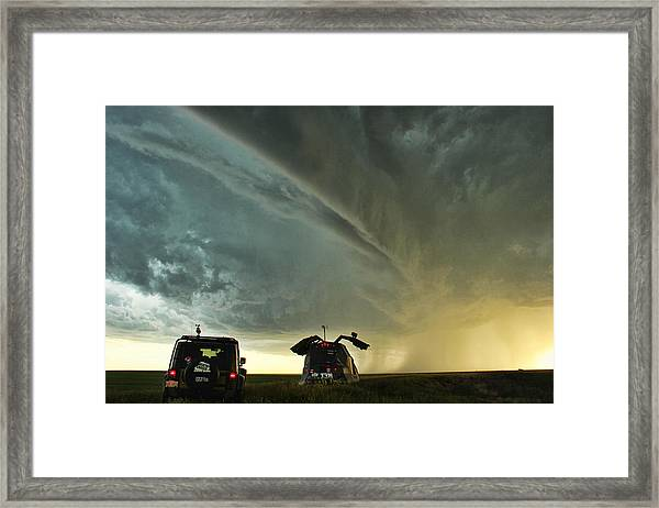 Dominating The Storm Framed Print