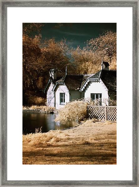 Duck Island Cottage Framed Print