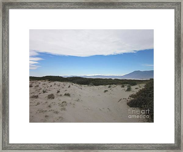 Dune In Roquetas De Mar Framed Print