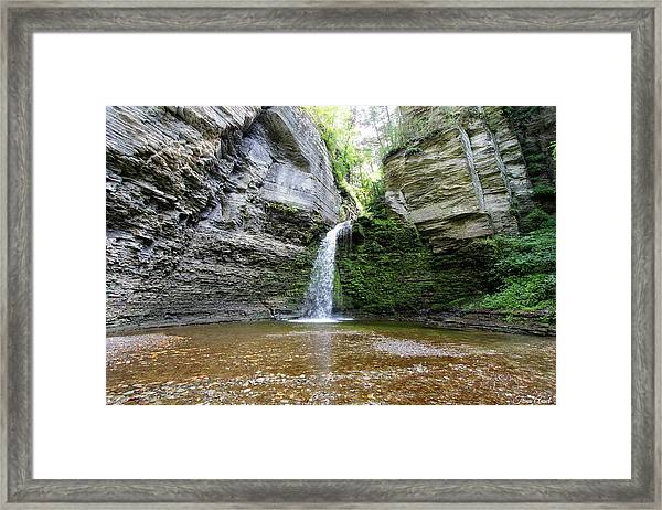 Eagle Cliff Falls In Ny Framed Print