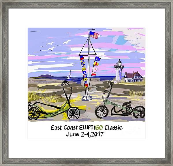 East Coast Elliptigo Classic Framed Print