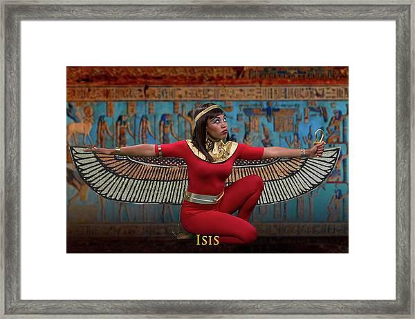 Egyptian Goddess Isis Framed Print