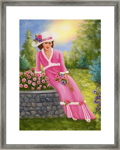Elegant Lady Framed Print