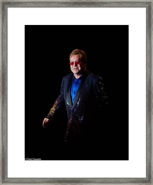 Framed Print featuring the photograph Elton John by Chris Cousins