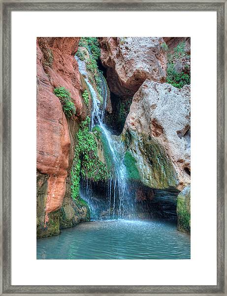 Framed Print featuring the photograph Elves Chasm by Britt Runyon