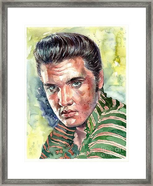 Elvis Presley Portrait Framed Print